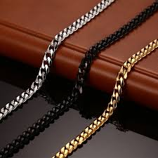 mens chains necklace images Vnox classic chain necklace 24 30 inchs for men long necklace 3 5 jpg