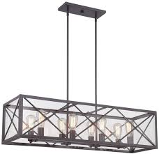 Rectangular Iron Chandelier Chandelier Glamorous Linear Chandelier Brushed Nickel Linear