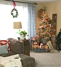 salvaged christmas home tour living room salvage sister and mister