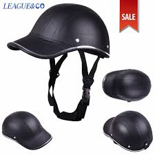motorcycle bike scooter half helmet baseball cap style safety hard
