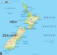 zealand on map road map of zealand and zealand road maps