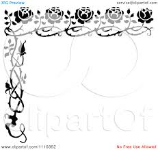 halloween border black and white clip art of positive words clipart