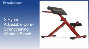 x hyper adjustable core strengthening workout bench youtube