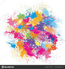 color background of paint splashes u2014 stock vector wikki33 143111149
