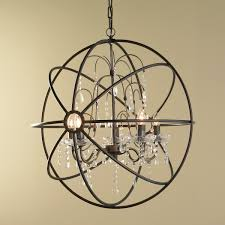 Sphere Chandelier With Crystals And Metal Orb Chandelier Orb Chandelier Chandeliers And