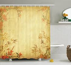 Oriental Shower Curtains Bamboo Shower Curtain Bamboo Shower Curtain Overview