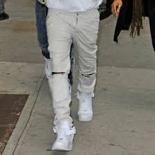 Skinny White Jeans Mens Mens White Ripped Jeans Oasis Amor Fashion