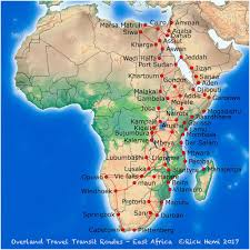 Sudan Africa Map by Transit Maps Intrepid Overland Travel