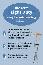 what is light duty work is light duty really light duty workers comp pinterest