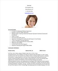babysitting resume templates nanny resume template 5 free word pdf document free