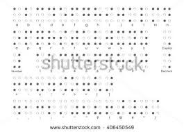 Alphabet Blind Braille Alphabet Braille Numbers Braille Punctuation Stock