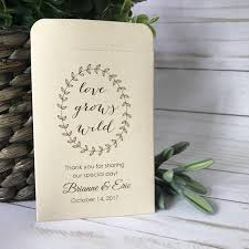 wedding seed packets new size diy custom seed packets kraft personalized envelopes