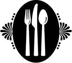 couverts cuisine sticker déco autocollants vinyle adhésifs muraux cuisine assiette