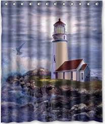 Lighthouse Window Curtains Bathroom Curtain Lighthouse Decorate The House With Beautiful