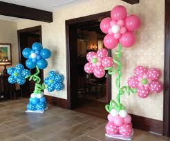 Columns For Party Decorations Super Cute Baby Shower Gender Reveal Flower Balloon Columns At