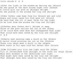 Light In Your Eyes Lyrics Tiny Red Light Lyrics And Chords Irish Folk Songs