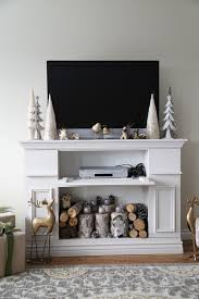 Fireplace Mantel Shelf Plans Free by Ana White Faux Fireplace Mantle With Hidden Storage Cabinets