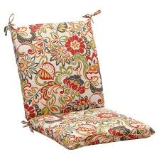 outdoor chair cushion green off white red floral target