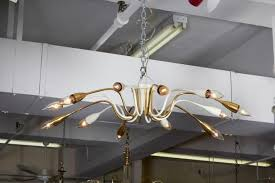Spider Chandelier Mid Century Spider Chandelier In Brass And Enamel Nyshowplace