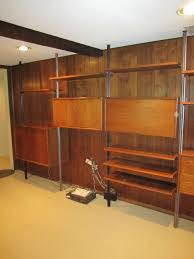 Modern Wall Unit by Outstanding 5 Bay American Walnut Wall Unit Mid Century Danish