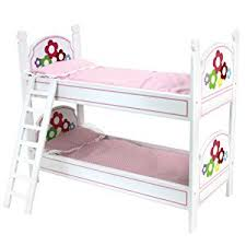 Bunk Bed With Mattress Amazon Com 18 Inch Doll Bunk Bed By Sophia U0027s Doll Bedding