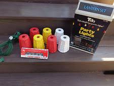 vtg blow mold tiki string party lights rv camping pool patio retro