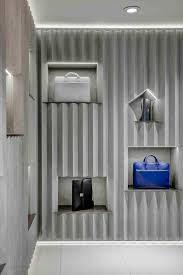 store interior design david adjaye designs concrete interior for valextra at harrods