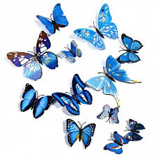 blue 12 pcs 3d butterfly wall stickers decor decals rosegal com