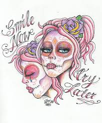 esinalca laugh now cry later tattoo designs