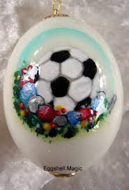 personalized sports ornaments by eggshell magic