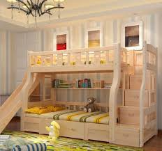 Bunk Bed With Slide And Tent Bedroom Wood Bunk Bed With Slide And Tent Beds With Slides For