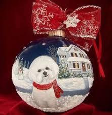 ornaments family bichon