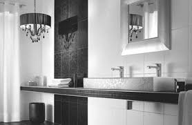 black white bathroom tiles ideas enjoyable black console bathroom vanity table with sink hang on