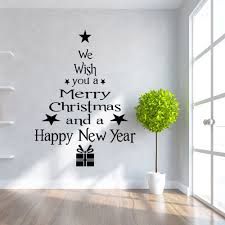 stick on wall art christmas tree letters stick wall art decal and mural point sticker