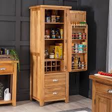 kitchen pantry cabinet oak cheshire oak single kitchen larder pantry cupboard