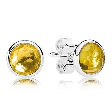 citrine earrings pandora november droplets citrine earrings pancharmbracelets