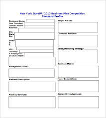 sample business plan outline template blank business plan