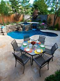 Cost Of Small Pool In Backyard Outdoor Living Small Backyard Pool Design With Mini Waterfall