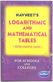Logarithm Table Navneet U0027s Logarithmic And Mathematical Tables St Bernard