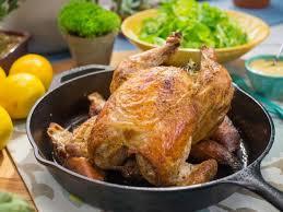 Ina Garten S Roast Chicken Roasted Chicken With Croutons Recipe Katie Lee Food Network