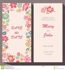 save the date birthday cards vector card template for save the date baby stock vector image