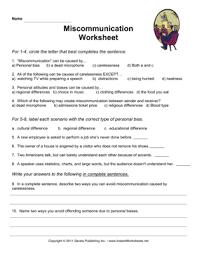miscommunication worksheet u2014 instant worksheets