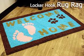 locker hook rug welcome home free pattern craft passion