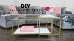 Ikea Nesting Tables by Diy Ikea Coffee Table Makeover Youtube