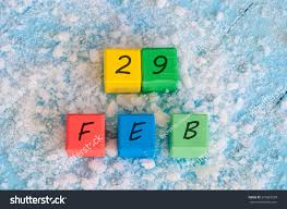 february 29th calendar date on color stock photo 379823239