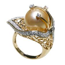 golden pearl rings images 18k yellow gold golden southsea pearl diamond ring 7765r from jpg