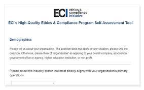 high quality e u0026c program self assessment tool ethics