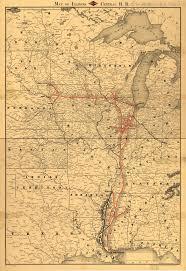 Chicago City Train Map by Hawk U0026 Badger Railroad Railroad Maps North America