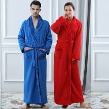 robes de chambre homme hommes plus la taille épais molletonnée peignoir amoureux