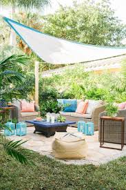 beat the heat and add privacy with an embellished shade sail hgtv